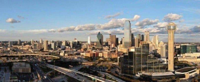 Dallas downtown panorámakép