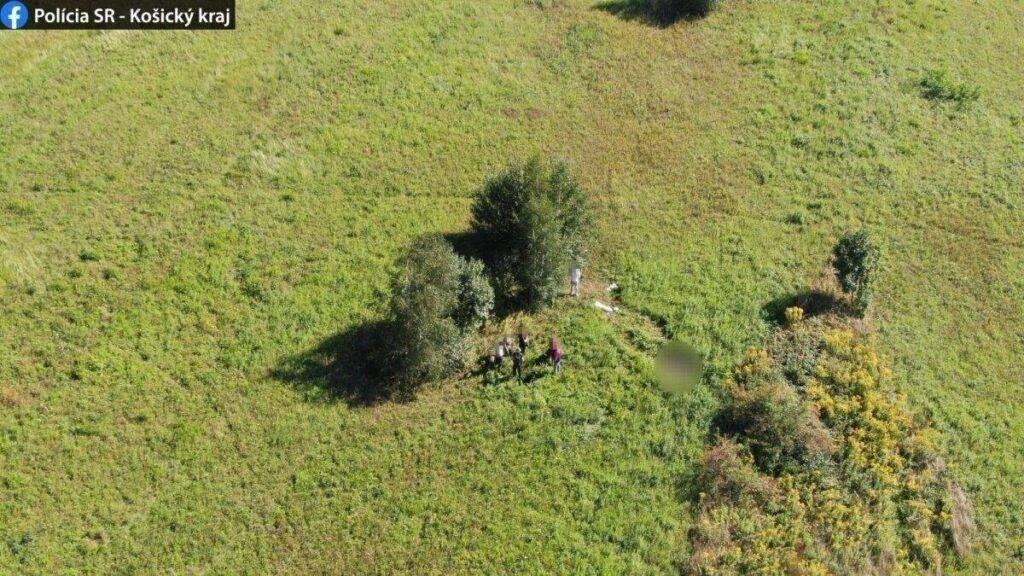 szlovák rendőrség drón