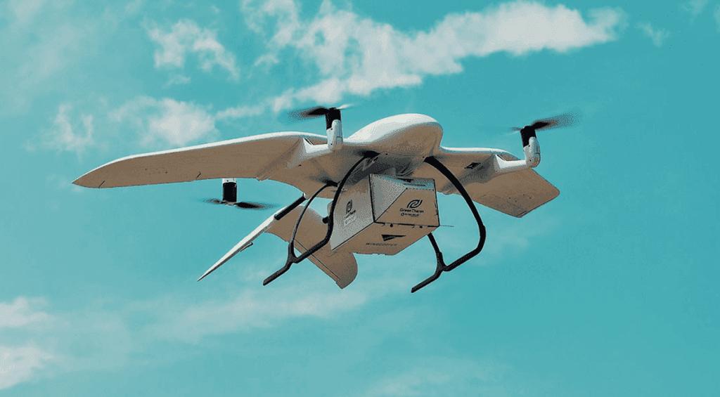 Wingcopter drónos szállítást